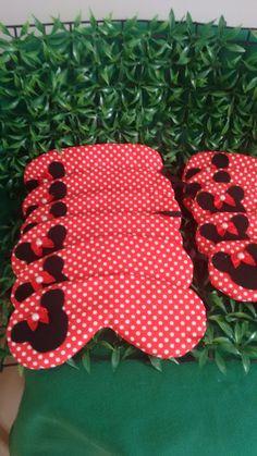 Tapa olho Minnie em tecido 100% algodão, idelanparavfesta do pijama,Lembrança composta por almofadas,