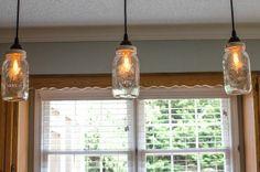 DIY jar pendant | Mason Jar Pendant Lighting | Nifty DIY Ideas