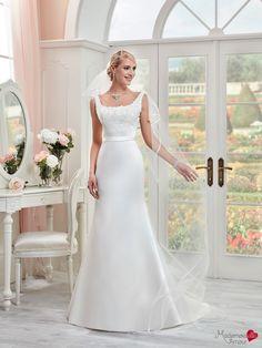 Robe de mariée Mlle Orana, robe de mariée satin, robe de mariage décolleté dos…