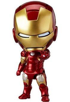 New Nendoroid 284 The Avengers Iron Man Mark Hero& Edition Good Smile Figur Iron Man Suit, Iron Man Armor, Marvel Fabric, Superhero Fabric, Chibi Marvel, Baby Marvel, Marvel Comics, Pvc Paint, Mini Iron