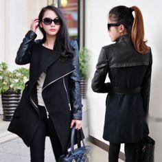 Trendy Leather Sleeve Jackets