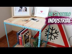 DIY - Mesa lateral estilo industrial - YouTube