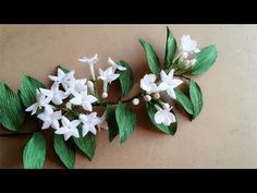 ABC TV | Cómo hacer Stephanotis Floribunda papel de flores de papel Crep...