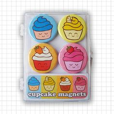 Hey, I found this really awesome Etsy listing at https://www.etsy.com/listing/169596823/happy-cupcakes-magnet-set