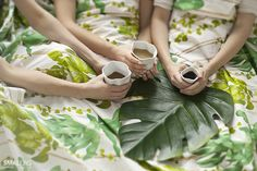 © smallbigidea.com bent series ceramics on botanical print.