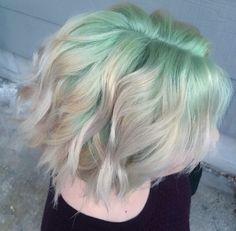 vibrant locks // hair // colour // hair dye // bright // aesthetic // grunge…