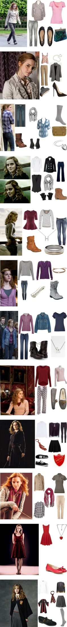 Hermione Granger Inspired Outfits by yellowheads on Polyvore featuring Marc by Marc Jacobs, True Religion, Joe Browns, ASOS, harry potter, emma watson, deathly hallows, hermione granger, Emma Watson and Topshop