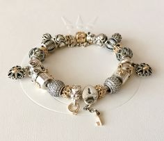 #MyPANDORA My Happily Married Two Tone PANDORA Bracelet. By Isabel Rivero  Roch. (