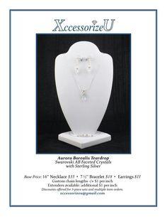 Aurora Borealis Teardrop Jewelry Set