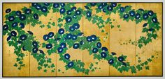 Suzuki Kiitsu (Japanese, 1796–1858)  Morning Glories  Edo period