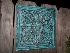 Wall Decor / Turquoise , Red / Metal Wall Decor / Wall Hanging. $39.99, via Etsy.