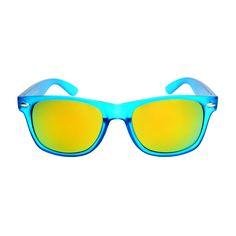 Cool Reflective Mirror Lens Party Style Matte Wayfarer Sunglasses W2110
