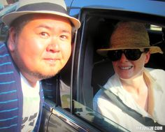 Julianne Moore and me.