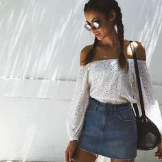 Yes or no? ✨ Love Kia Eyelet Top from @saboskirt Shop today www.saboskirt.com