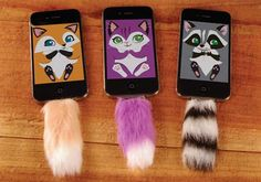 Furry Phone Accessories - 'The Faux Tail' Will Keep You Company with a New Fun Friend Bff Cases, Ipod Cases, Cute Cases, Cool Iphone Cases, Cute Phone Cases, Phone Accesories, Cell Phone Accessories, Iphone Owner, Animal Phone Cases