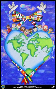 2014-15 Lions Clubs International Peace Poster Competition submission from Rutland Lions Club in Massachusetts