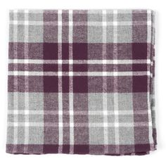 BRADENBURG PLAID POCKET SQUARES - WINE | Ties, Bow Ties, and Pocket Squares | The Tie Bar
