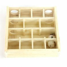 Wood Hamster Maze Toy With Glass Cover Hut House Cage Playground For Small Pet Toys Hamsters, Hamster Toys, Hamster Cages, Pet Toys, Hamster Habitat, Rodents, Hedgehog Accessories, Pet Accessories, Small Animal Cage