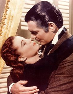 Clark Gable and Vivien Leigh in Gone with the Wind. Easily one of the best movies ever made.