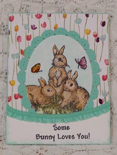 The Gifts of Spring Easter bunnies rabbit handmade card Stampin' Up!