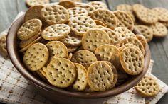 Baked Multigrain Mathri (Crackers) with Italian Flavors