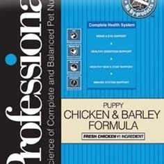 Professional Dry Food for Puppy Chicken and Barley Formula 35 Pound Bag >>> Want additional info? Click on the image.