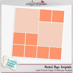 April 2016 Lovely Pocket Page digital scrapbooking challenge at With Love Studio