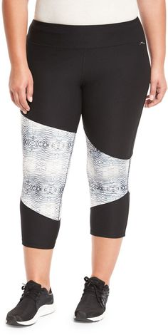 X by Gottex Colorblock Capri Performance Legging Black/Snake Plus Size >>> Want to know more, click on the image.