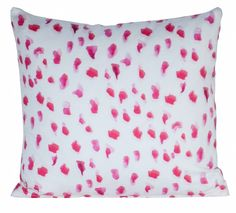 """Africa"" by Inslee Pillow - Pink"
