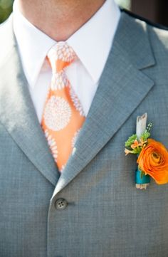 colors, fashion, groom, mens, orange, sherbert, turquoise, white, accents, organic, outdoor, peach, tangerine, teal, wedding