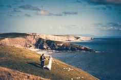An amazing landscape for wedding photographs on South Wales' jurassic coast. Farm Wedding, Wedding Day, Jurassic Coast, South Wales, Wedding Images, Perfect Wedding, Wedding Venues, Photographs