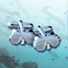 Select Gifts Cuff Links Scuba Cufflinks~Water Scuba Diver Swimmer Engraved Personalised Box