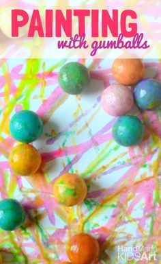 Put a sweet twist on action painting for kids with this easy painting activity.