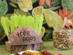 Bug + Insect Birthday Party via Kara's Party Ideas | Party treats idea- treetops