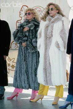 Models in long fur coats c. 1986