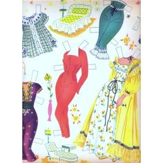 Cyd Charisse Uncut Reproduction Paper Dolls 1956 | 8 of 9