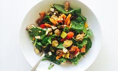 Voor de luie maar gezonde eters onder ons hebben we een heerlijke salade met gegrilde groenten. Makkelijk en lekker tijdens de lunch.