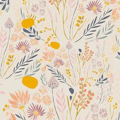 Boho tissu tissu fleuri promenade matinale leah tissu