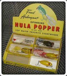 Arbogast Dealer Box of Hula Poppers.