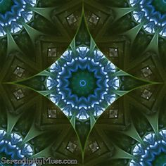 Day 47: Mojo in Blue and Green (kaleidoscope)