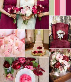 pink and burgundy fall wedding color ideas 2014 #pinkweddingideas #weddingcolors #elegantweddinginvites