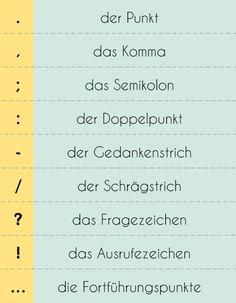 """deutschfans: """"Satzzeichen im Deutschen. Welche andere Satzzeichen kennt ihr noch? """""""