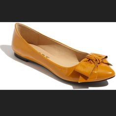 Report Kathryn Yellow Bow Flats, 9.5