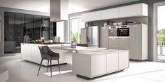 Cozinha em tom de cinza e branco