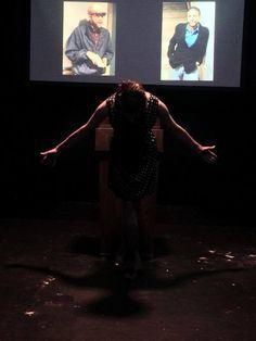 Center: Devin Gaither and Background: Giovanni Kavota (Adam). Photo courtesy of Maryland Ensemble Theatre.