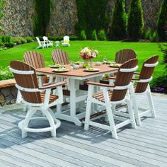 Berlin Gardens 7 Pc Cozi Back Dining Set Dining features some