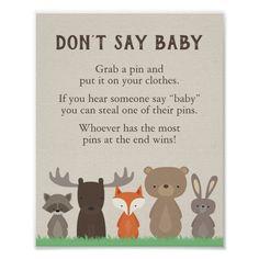 Shop Woodland Baby Shower Diaper Raffle Sign created by ShowerThatBaby. Baby Shower Diapers, Baby Shower Signs, Baby Shower Fun, Fun Baby, Baby Boy Shower Games, Shower Party, Shower Gifts, Baby Baby, Woodland Theme