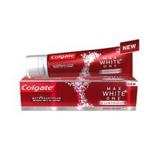 Colgate max white one luminous sparkling mint toothpaste 75ml by Colgate, http://www.amazon.co.uk/dp/B00EB2YN9C/ref=cm_sw_r_pi_dp_pYkGtb1X8R0AE
