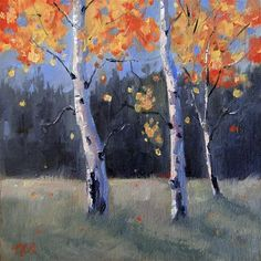 "Daily Paintworks - ""Color-Fall"" - Original Fine Art for Sale - © Nancy Romanovsky"