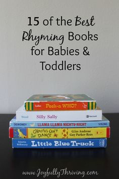 15 of the Best Rhyming Books for Babies & Toddlers - If you're looking for some great rhyming books for your little one, check out this list by a preschool teacher and mom! Already have and love half of them lol